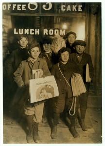 Zeitungsjungen in New York (1908)