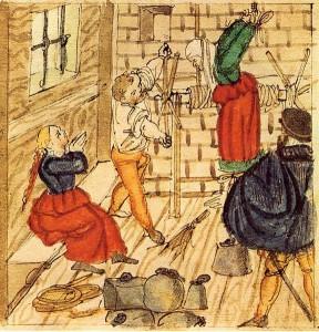 Hans Ueli, Folter von Frau und Tochter eines Fuhrmanns in Mellingen (1577)