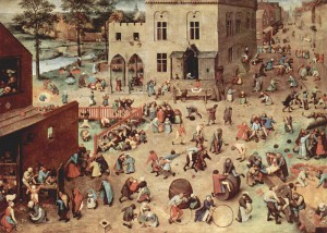Peter Brueghel d.Ä.: Die Kinderspiele, 1560